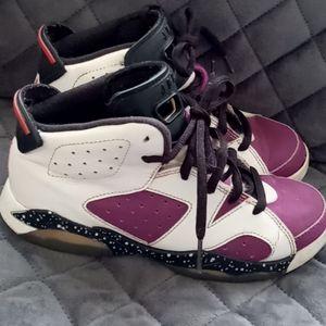 Girls leather air Jordans size 3